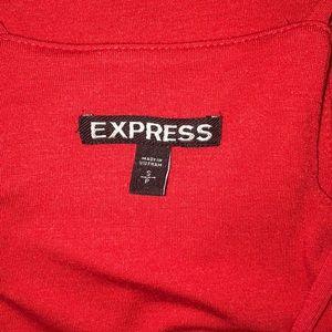 Express Dresses - Express red midi dress with asymmetrical hem